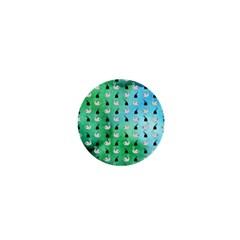 Goose Swan Hook Blue Green 1  Mini Magnets by Alisyart