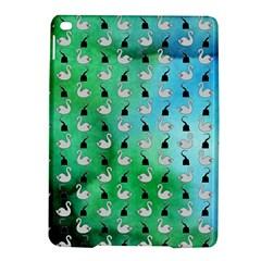 Goose Swan Hook Blue Green iPad Air 2 Hardshell Cases by Alisyart