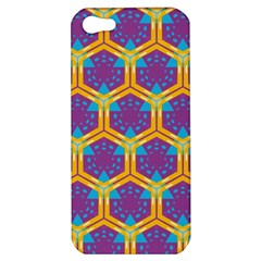 Yellow Honeycombs Pattern                                                         			apple Iphone 5 Hardshell Case by LalyLauraFLM
