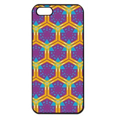 Yellow Honeycombs Pattern                                                         apple Iphone 5 Seamless Case (black) by LalyLauraFLM