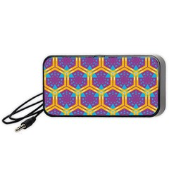 Yellow Honeycombs Pattern                                                         Portable Speaker by LalyLauraFLM