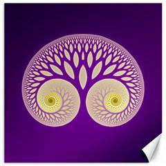 Glynnset Royal Purple Canvas 16  X 16   by Alisyart