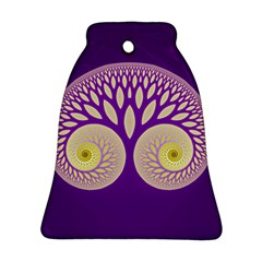Glynnset Royal Purple Bell Ornament (two Sides) by Alisyart