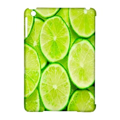 Green Lemon Slices Fruite Apple Ipad Mini Hardshell Case (compatible With Smart Cover) by Alisyart