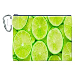 Green Lemon Slices Fruite Canvas Cosmetic Bag (xxl) by Alisyart