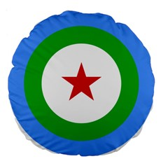 Roundel Of Djibouti Air Force  Large 18  Premium Flano Round Cushions by abbeyz71
