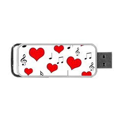 Love Song Pattern Portable Usb Flash (two Sides) by Valentinaart