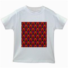Apophysis Fractal Owl Neon Kids White T-Shirts