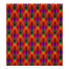 Apophysis Fractal Owl Neon Shower Curtain 66  X 72  (large)  by Nexatart