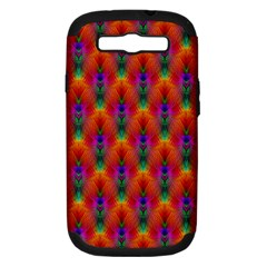 Apophysis Fractal Owl Neon Samsung Galaxy S Iii Hardshell Case (pc+silicone) by Nexatart