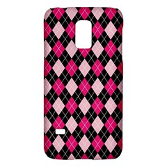 Argyle Pattern Pink Black Galaxy S5 Mini by Nexatart