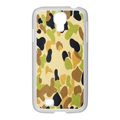 Army Camouflage Pattern Samsung Galaxy S4 I9500/ I9505 Case (white) by Nexatart