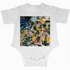 Art Graffiti Abstract Vintage Infant Creepers by Nexatart