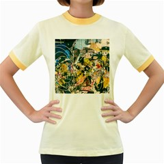 Art Graffiti Abstract Vintage Women s Fitted Ringer T Shirts by Nexatart