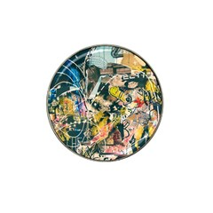 Art Graffiti Abstract Vintage Hat Clip Ball Marker (4 Pack) by Nexatart