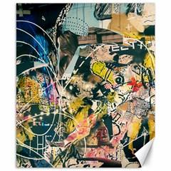 Art Graffiti Abstract Vintage Canvas 8  X 10  by Nexatart