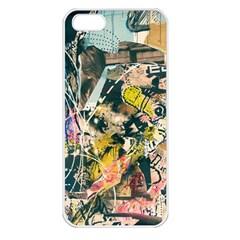 Art Graffiti Abstract Vintage Apple Iphone 5 Seamless Case (white) by Nexatart