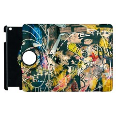 Art Graffiti Abstract Vintage Apple Ipad 2 Flip 360 Case by Nexatart