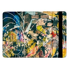 Art Graffiti Abstract Vintage Samsung Galaxy Tab Pro 12 2  Flip Case by Nexatart