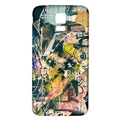Art Graffiti Abstract Vintage Samsung Galaxy S5 Back Case (white) by Nexatart