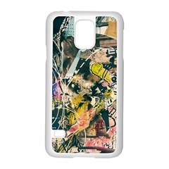 Art Graffiti Abstract Vintage Samsung Galaxy S5 Case (white) by Nexatart