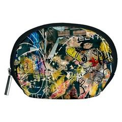 Art Graffiti Abstract Vintage Accessory Pouches (medium)  by Nexatart