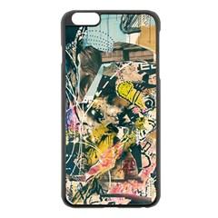 Art Graffiti Abstract Vintage Apple Iphone 6 Plus/6s Plus Black Enamel Case by Nexatart