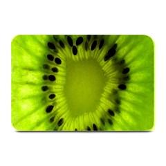 Kiwi Fruit Slices Cut Macro Green Plate Mats by Alisyart