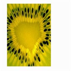 Kiwi Fruit Slices Cut Macro Green Yellow Large Garden Flag (Two Sides) by Alisyart