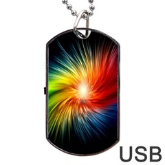 Lamp Light Galaxy Space Color Dog Tag Usb Flash (one Side) by Alisyart