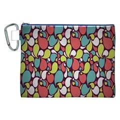 Leaf Camo Color Flower Canvas Cosmetic Bag (xxl) by Alisyart
