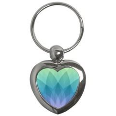 Lotus Events Green Blue Purple Key Chains (heart)  by Alisyart