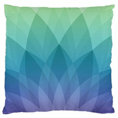 Lotus Events Green Blue Purple Large Cushion Case (one Side) by Alisyart