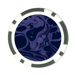 Marble Blue Marbles Poker Chip Card Guard (10 Pack) by Alisyart