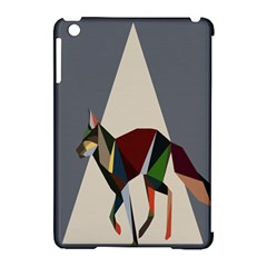 Nature Animals Artwork Geometry Triangle Grey Gray Apple Ipad Mini Hardshell Case (compatible With Smart Cover) by Alisyart