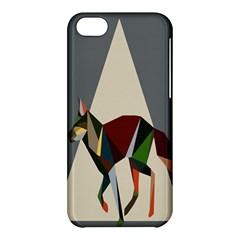 Nature Animals Artwork Geometry Triangle Grey Gray Apple Iphone 5c Hardshell Case by Alisyart