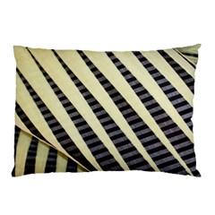 Line Chevron Triangle Grey Pillow Case by Alisyart