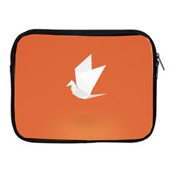 Origami Bird Animals White Orange Apple Ipad 2/3/4 Zipper Cases