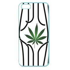 Marijuana Jail Leaf Green Black Apple Seamless Iphone 5 Case (color) by Alisyart