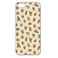 Sweet Succulents Apple Seamless Iphone 5 Case (clear) by electrogiraffe