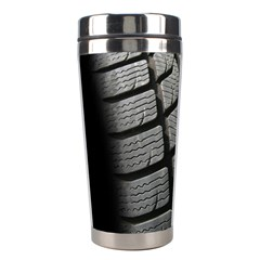 Auto Black Black And White Car Stainless Steel Travel Tumblers by Nexatart