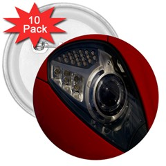 Auto Red Fast Sport 3  Buttons (10 Pack)  by Nexatart
