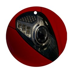 Auto Red Fast Sport Round Ornament (two Sides) by Nexatart