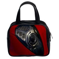 Auto Red Fast Sport Classic Handbags (2 Sides) by Nexatart