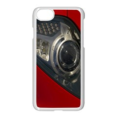 Auto Red Fast Sport Apple iPhone 7 Seamless Case (White) by Nexatart