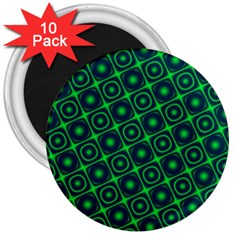 Plaid Green Light 3  Magnets (10 Pack)