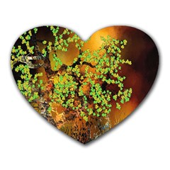 Backdrop Background Tree Abstract Heart Mousepads by Nexatart