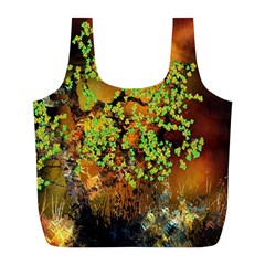 Backdrop Background Tree Abstract Full Print Recycle Bags (l)  by Nexatart
