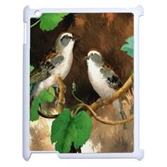 Backdrop Colorful Bird Decoration Apple Ipad 2 Case (white) by Nexatart