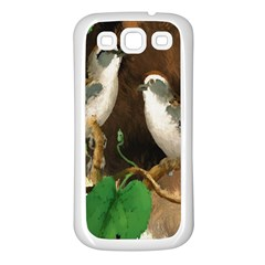 Backdrop Colorful Bird Decoration Samsung Galaxy S3 Back Case (white) by Nexatart